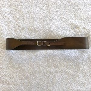 A&F Brown Wide Leather Belt